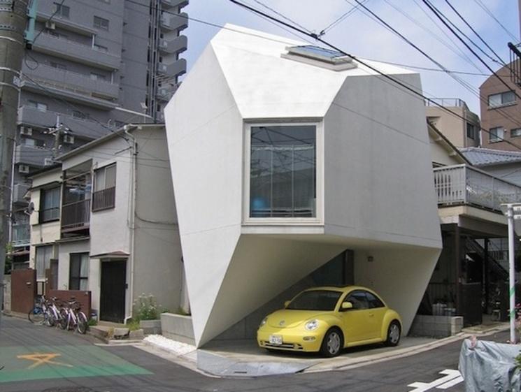Vivienda inspirada en origami por Atelier TEKUTO