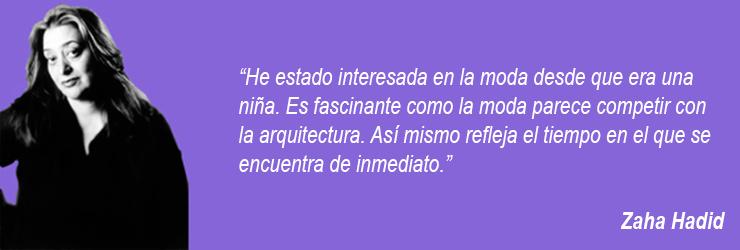 Zaha Hadid arquitecta moda arquitectura