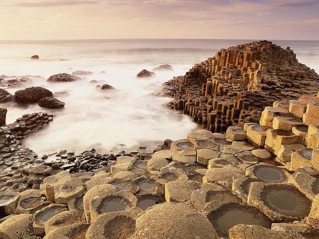 calzada de los gigantes Irlanda-hexagonos ceramicos-ceramica a mano alzada