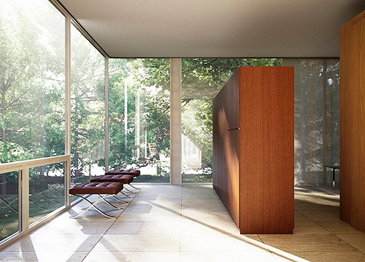 la casa farnsworth de mies van der rohe un icono de la arquitectura moderna. Black Bedroom Furniture Sets. Home Design Ideas