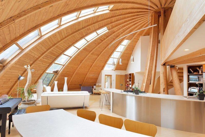 vivienda prefabricada dome luz solar