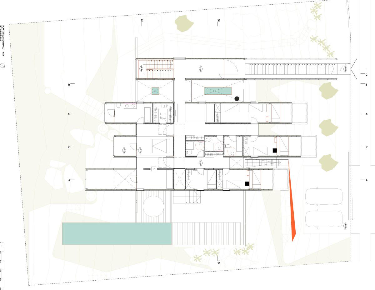 planos casa oruga contenedor sostenible irarrazabal