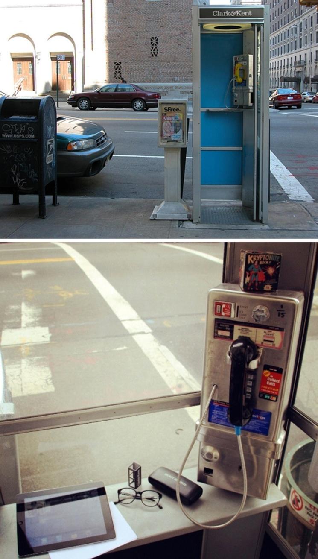 Clark & Kent, las tarjetas de visita con forma de cabina telefónica