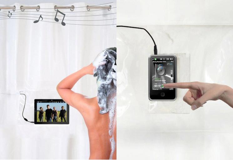 Shower tunes una cortina de ducha musical - Canciones para la ducha ...