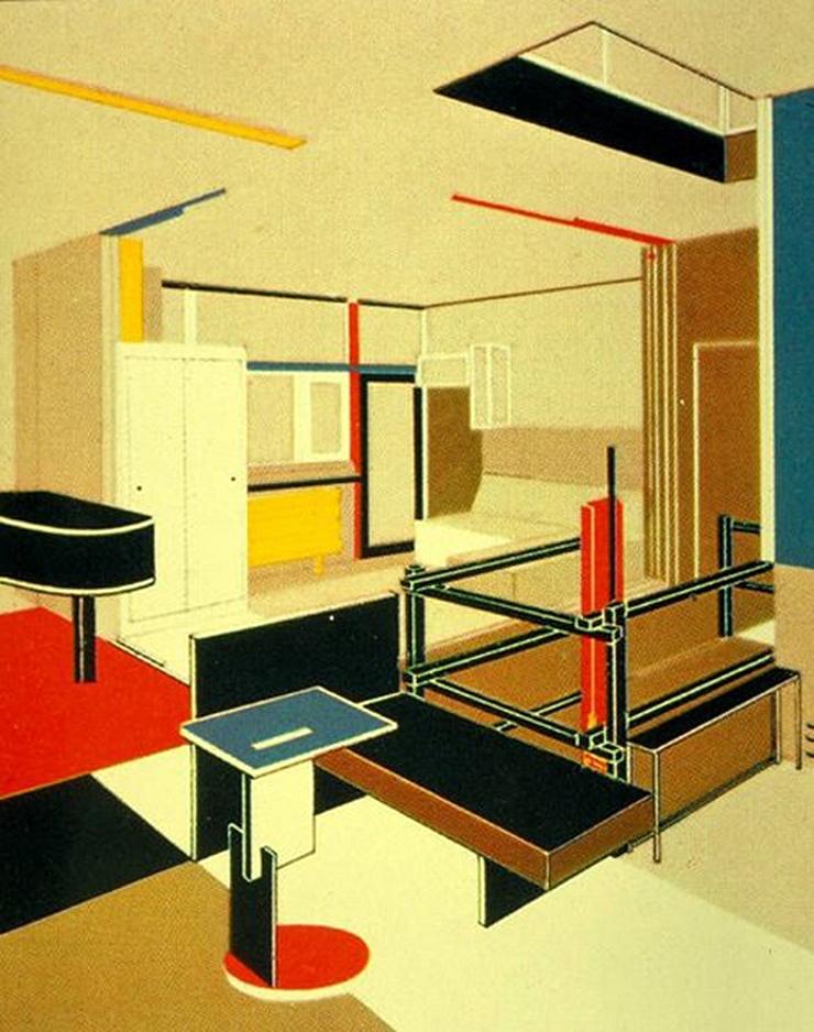 dibujo-casa-rietveld-schroder-perspectiva-interior