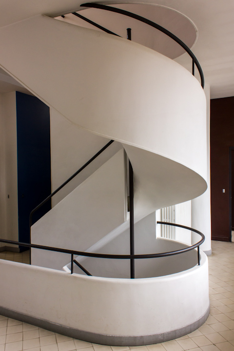 escalera de servicio villa savoye