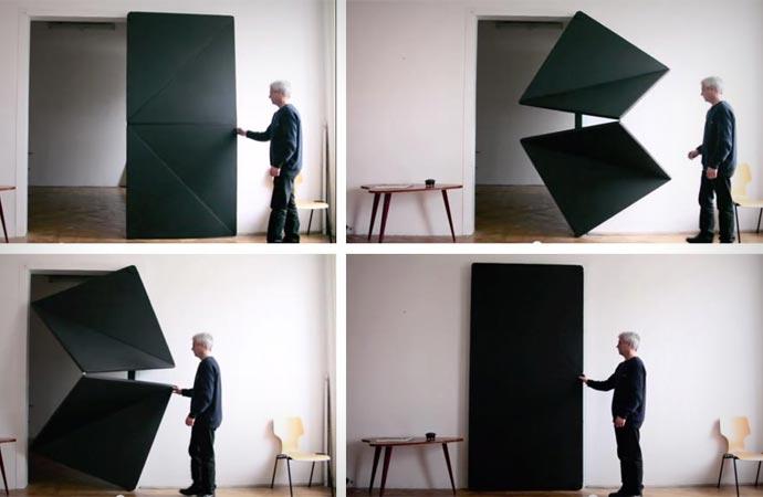 evolution door un nuevo concepto de puerta plegable. Black Bedroom Furniture Sets. Home Design Ideas