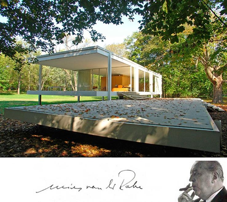 La casa farnsworth de mies van der rohe un icono de la for Casa de arquitecto moderno