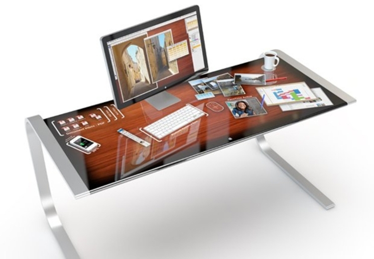 iDesk - Proyecto de un escritorio multitáctil de Apple