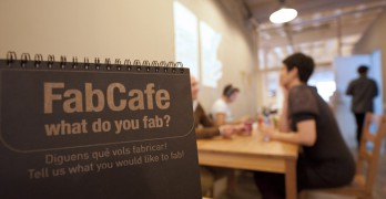 FabCafe Barcelona = 1/2 FabLab + 1/2 Coffee shop
