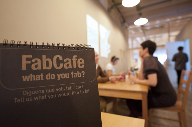 FabCafe Barcelona = 1/2 FabLab + 1/2 Coffee shop