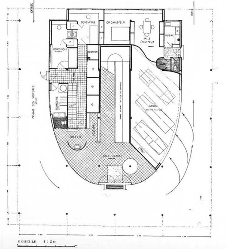 Villa savoye 1929 le corbusier una vivienda que for Dimensiones arquitectonicas