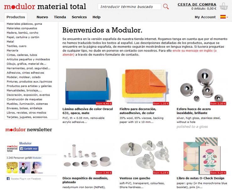 Un modulor diferente – Tienda técnica online