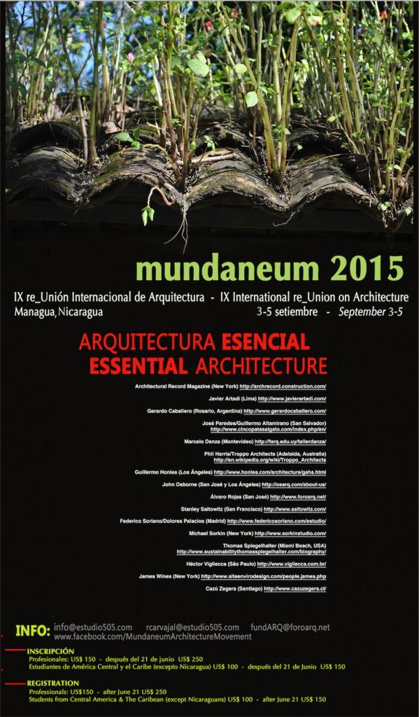 mundaneum 2015 arquitectura esencial