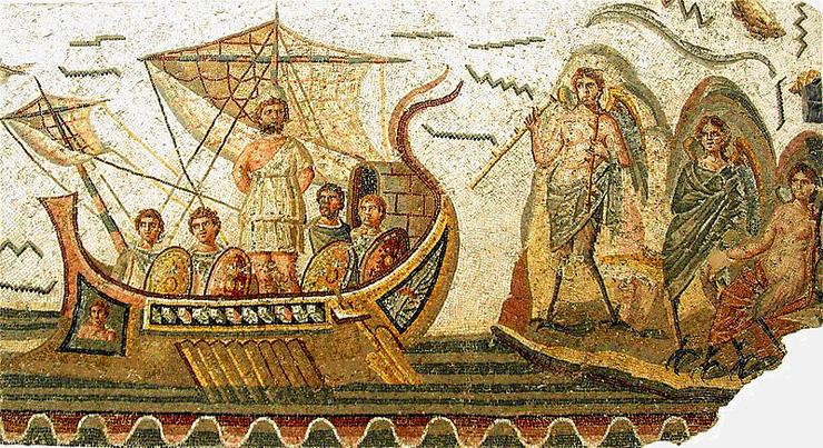 Mosaico que representa La Odisea (Homero)